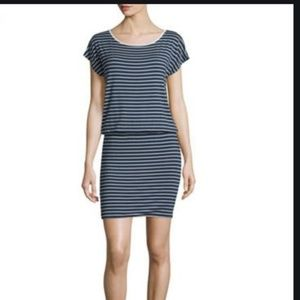 Joie Kyler Striped Jersey Blouson Dress Size XS